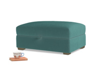 Bumper Storage Footstool in Real Teal clever velvet