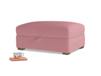 Bumper Storage Footstool in Dusty Rose clever velvet