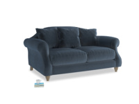 Small Sloucher Sofa in Liquorice Blue clever velvet