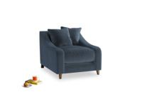 Oscar Armchair in Liquorice Blue clever velvet