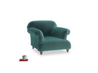 Soufflé Armchair in Real Teal clever velvet