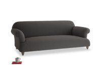 Large Soufflé Sofa in Old Charcoal brushed cotton