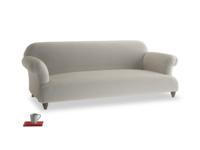 Large Soufflé Sofa in Smoky Grey clever velvet