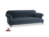 Large Soufflé Sofa in Liquorice Blue clever velvet