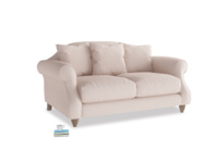 Small Sloucher Sofa in Faded Pink brushed cotton