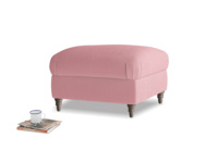 Small square footstool Flatster Footstool in Dusty Rose clever velvet