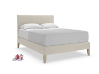 Piper upholstered bed in a contemporary luxury style handmade in Britain