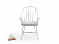 Painted white Bleaker wooden spindle back farmhouse country kitchen chairs