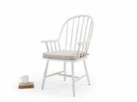Spindle back Bleaker white painted farmhouse kitchen chairs