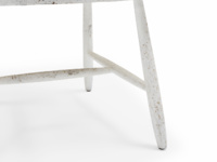 Bleaker wooden kitchen farmhouse chairs painted white with spindle backs