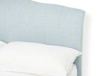 Frenchie headboard French style with elegant upholstered curves