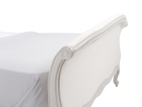 French style Antoinette sleigh bed in Scuffed Grey