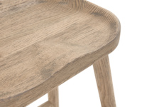 Stylish British made wooden kitchen stool