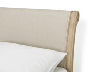 French vintage style upholstered Darcy bed