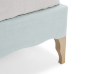 Luxury French style Frenchie bed comes with solid oak legs that have a lovely weathered finish