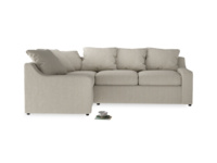 Extra deep seated and comfy luxury Cloud corner sofa, handmade in Britain