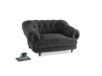 Bagsie Love Seat in Shadow Grey wool