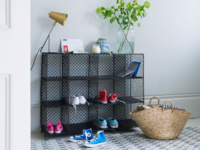 Industrial Mish-Mesh sideboard also a wire storage unit and bookcase