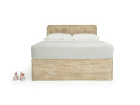 Handmade wooden contemporary Woody storage bed made from reclaimed fir