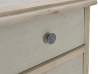 Medium and large Apeldoorn two tone grey painted chest of drawers
