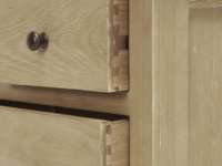 French vintage style Legacy solid oak bedroom chest of drawers