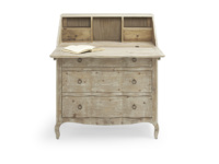 Practical vintage reclaimed Quill bureau and writing desk