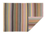 Herringbone striped Tuppence handmade rug