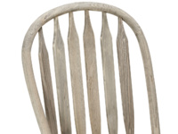 Classic Bossy Beached vintage dining chair with beautiful hooped back