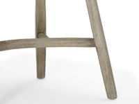 Beautiful hooped-back Bossy Beached kitchen chair with comfy natural coloured cotton seat