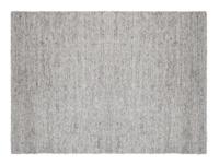 Yarn grey wool woven handmade rug