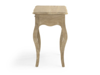 Elegant French style Mimi bedside table hand carved from reclaimed fir