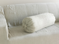Lovely handmade large linen Bolster cushion