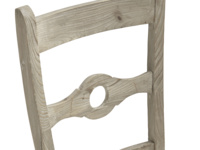 Traditional farmhouse Chinwag Beached kitchen chair made from solid reclaimed fir