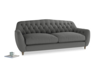 Large Butterbump Sofa in French Grey brushed cotton