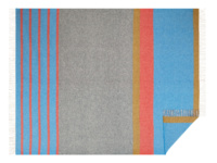 Dasher striped wool blanket and bed throw