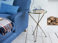 Round contemporary Tria modern side table