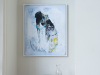 Skin So Thin canvas print by Ben Lowe with a thick white wooden frame.