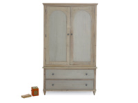 Haybarn grey painted wardrobe with drawers