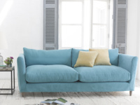 Flopster sofa with removable cover in Teal brushed cotton