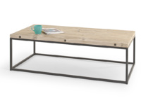 Wooden Poste reclaimed industrial coffee table with strong hand welded metal frame