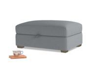 Bumper Storage Footstool in Dusk vintage linen