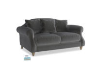 Small Sloucher Sofa in Steel clever velvet