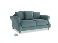 Small Sloucher Sofa in Marine washed cotton linen