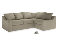 Large Right Hand Cloud Corner Sofa in Jute vintage linen
