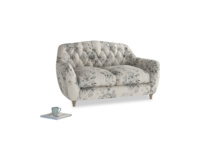 Small Butterbump Sofa in Dusty Blue vintage rose