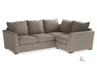 Large Right Hand Pavilion Corner Sofa in Caraway Washed Cotton Linen