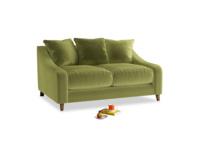 Small Oscar Sofa in Olive plush velvet