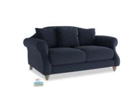 Small Sloucher Sofa in Indigo vintage linen