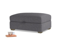 Bumper Storage Footstool in Lead cotton mix