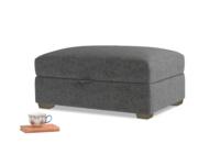 Bumper Storage Footstool in Shadow Grey wool